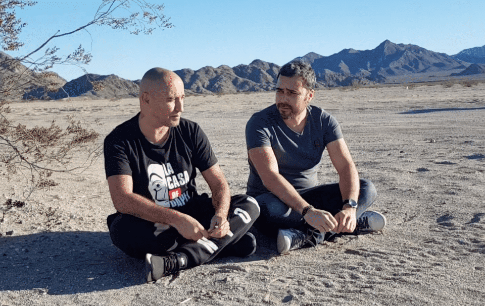 Arnaud et Vincent dans le désert de Vegas