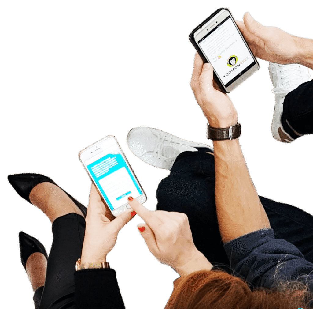Formation professionnelle en microlearning sur smartphone